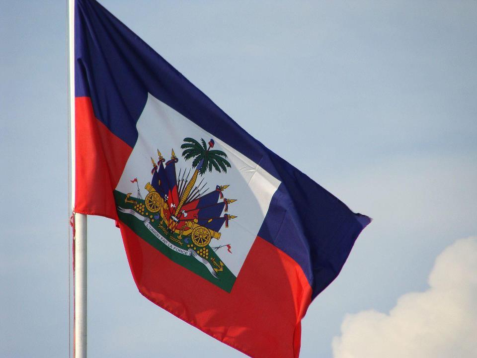 le drapeau haitien-
